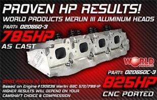"Bill Mitchell Products BMP 020650C - Cylinder Heads Aluminum Chevy Big Block 345cc 119cc 24Degree 2.300"" x 1.880"" CNC PORTED"
