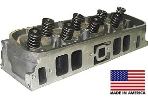 World Products 030630-2M - Cylinder Heads Cast Iron Chevy Big Block MERLIN 345cc Rectangle Port Marine Assembled