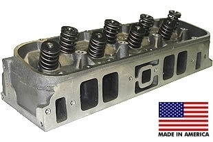 World Products 030620-2M - Cylinder Heads Cast Iron Chevy Big Block MERLIN 320cc Rectangle Port Marine Assembled