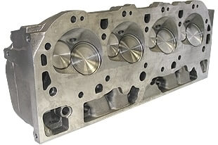 """World Products 030620-1 - Cylinder Heads Cast Iron Chevy Big Block MERLIN 320cc Rectangle Port 320cc 119cc 26Degree 2.300"""" x 1.880"""", Assembly w/ 1.500""""S springs for hydraulic flat tappet lifters"""