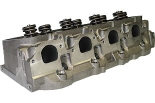 """World Products 030630-2 - Cylinder Heads Cast Iron Chevy Big Block MERLIN 345cc Rectangle Port 350cc 119cc 26Degree 2.300"""" x 1.880"""", Assembly w/ 1.550"""" springs for solid flat tappet or hyd.roller lifters"""