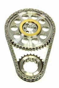 ROLLMASTER CS2000 - Timing Chain Chevy Big Block 396/454 PRE/EFI Red Series with shim & non-nitrided sprockets, 9 keyway crank sprocket