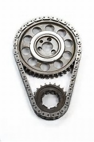 "ROLLMASTER CS4000LB5 - Timing Chain Ford Small Block 429/460 PRE/EFI Red Series Series with Shim & nitrided sprockets, 9 keyway crank sprocket, -.005"" shorter chain"