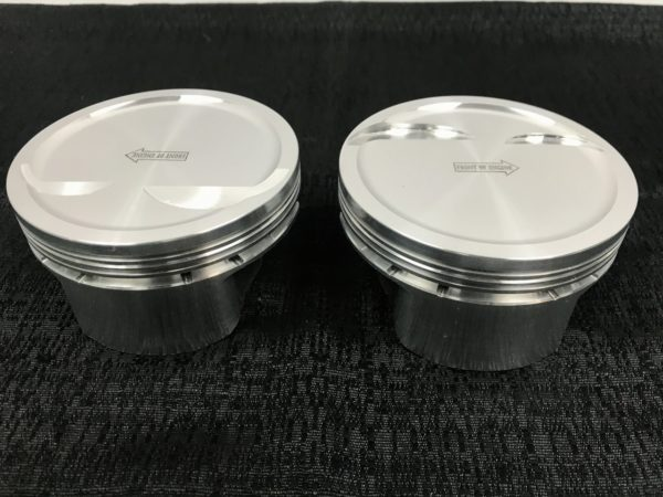 "Manley Chevy LS1 4.125"" Bore, 1.120""CH, -19cc Dish Platinum Series Pistons"