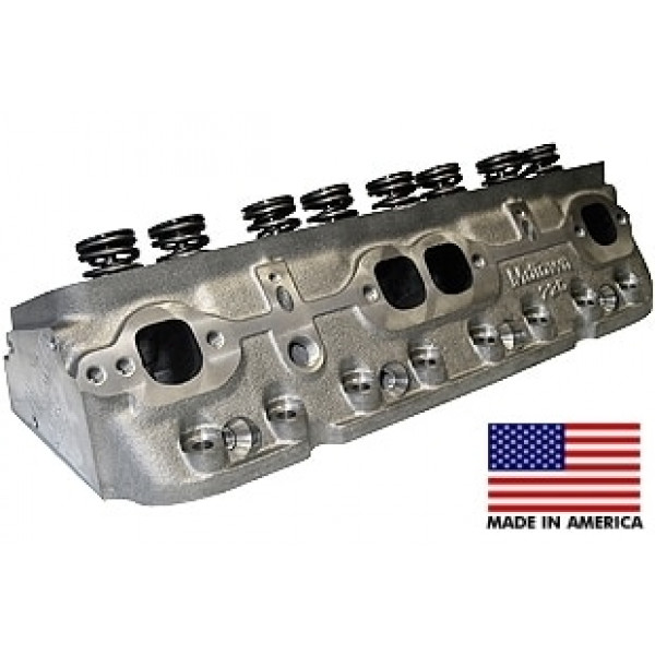 """World Products 014250-1 - Cylinder Heads Cast Iron Chevy Small Block MOTOWN 220cc 64cc 23Degree 2.080"""" x 1.600"""" Straight Plug, Assembly w/ 1.250"""" springs for hydraulic flat tappet lifters"""