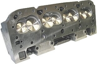 """World Products 014150-1 - Cylinder Heads Cast Iron Chevy Small Block MOTOWN 220cc 64cc 23Degree 2.080"""" x 1.600"""" Angle Plug, Assembly w/ 1.250"""" springs for hydraulic flat tappet lifters"""
