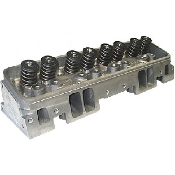 "World Products 014150-2 - Cylinder Heads Cast Iron Chevy Small Block MOTOWN 220cc 64cc 23Degree 2.080"" x 1.600"" Angle Plug, Assembly w/ 1.437"" springs for solid flat tappet or Hyd.roller lifters"