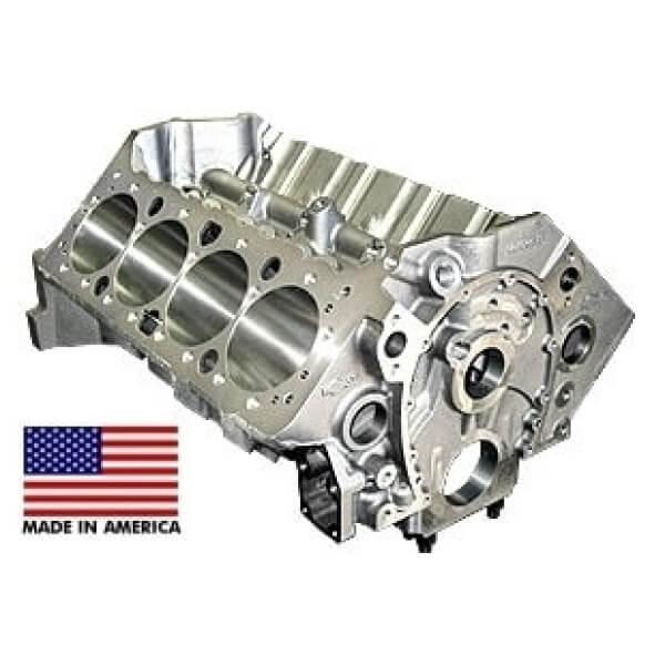 World Products 084030 - Cast Iron Motown Engine Block Chevy Small Block 400 Mains, 4.120 Bore, Nodular Caps