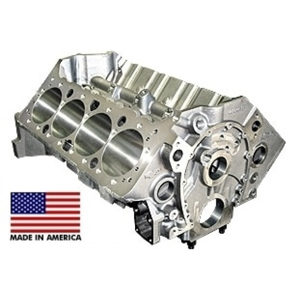 World Products 084120RC - Cast Iron Motown Engine Block Chevy Small Block 350 Mains, 4.120 Bore, Billet Caps, RAISED CAM
