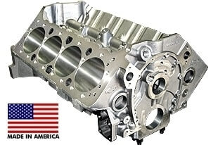 World Products 084120 - Cast Iron Motown Engine Block Chevy Small Block 350 Mains, 4.120 Bore, Billet Caps