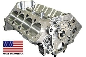 World Products 084110 - Cast Iron Motown Engine Block Chevy Small Block 350 Mains, 3.995 Bore, Billet Caps