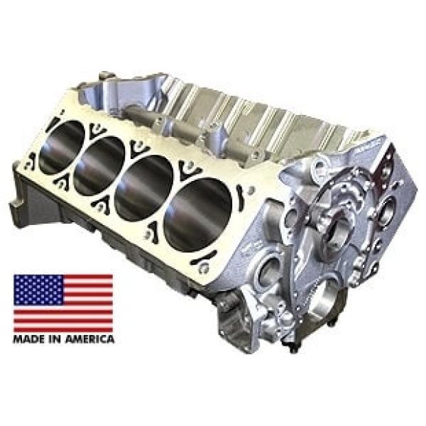 World Products 084080 - Cast Iron Motown/LS Engine Block Chevy Small Block 350 Mains, 3.995 Bore, Nodular Caps