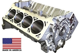 World Products 084180 - Cast Iron Motown/LS Engine Block Chevy Small Block 350 Mains, 3.995 Bore, Billet Caps