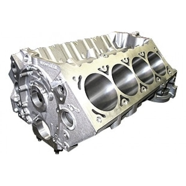World Products 084181-904 - Cast Iron Motown/LS Engine Block Chevy Small Block 350 Mains, 4.120 Bore, Billet Caps
