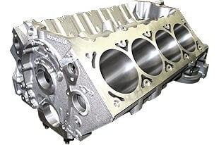 World Products 084181 - Cast Iron Motown/LS Engine Block Chevy Small Block 350 Mains, 4.120 Bore, Billet Caps