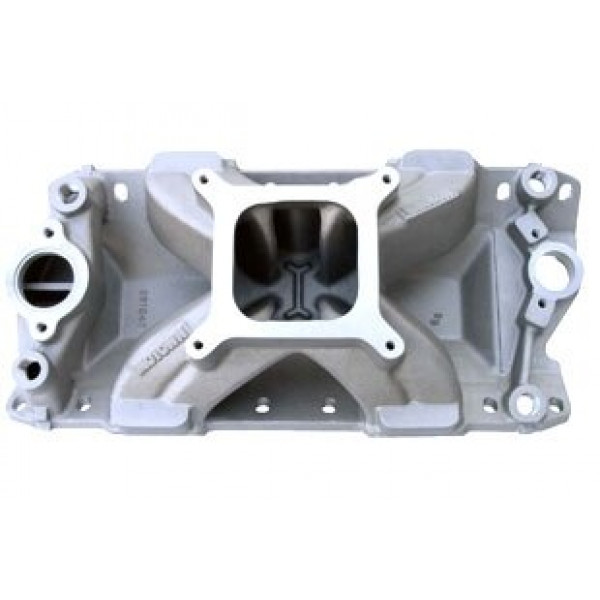 Bill Mitchell Products BMP 061041 - Intake Manifold Chevy Small Block 4150 Carb Flange for Bowtie/Vortec Series Heads