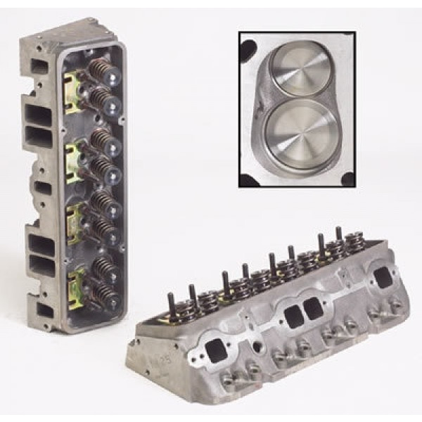 """World Products 012250 - Cylinder Heads Cast Iron Chevy Small Block SPORTSMAN II 200cc 72cc 23Degree 2.020"""" x 1.600"""" Straight Plug, Bare Castings"""