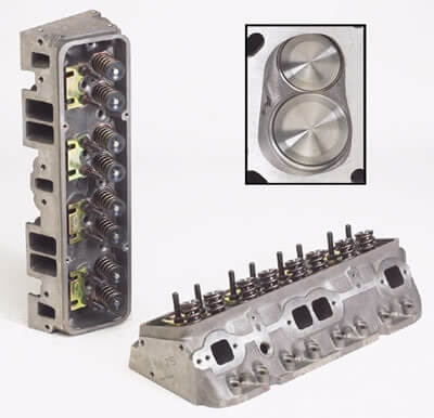 "World Products 012250 - Cylinder Heads Cast Iron Chevy Small Block SPORTSMAN II 200cc 72cc 23Degree 2.020"" x 1.600"" Straight Plug, Bare Castings"