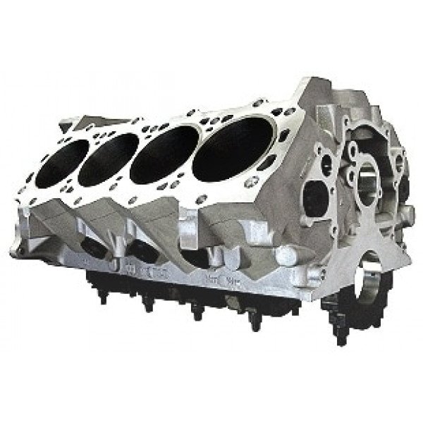 Bill Mitchell Products BMP 087582 - Aluminum Engine Block Ford Small Block 351 Mains, 9.500 Deck, 4.115 Bore, Billet Caps