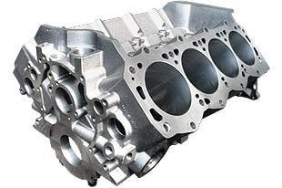 World Products 087110 - Cast Iron Engine Block Ford Small Block 302 Mains, 8.200 Deck, 3.995 Bore, Billet Caps