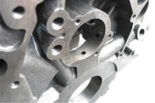 World Products 087172 - Cast Iron Engine Block Ford Small Block 351 Mains, 9.500 Deck, 3.995 Bore, Billet Caps