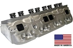 """World Products 012150-1 - Cylinder Heads Cast Iron Chevy Small Block SPORTSMAN II 200cc 72cc 23Degree 2.020"""" x 1.600"""" Angle Plug, Assembly w/ 1.250"""" springs for hydraulic flat tappet lifters"""