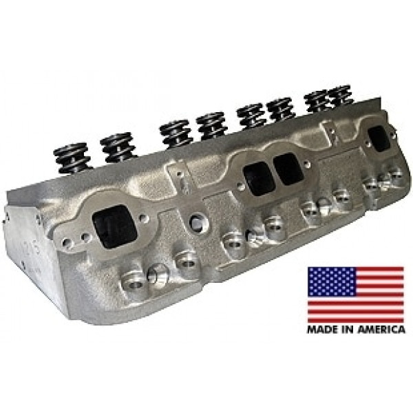 "World Products 011250-50-2 - Cylinder Heads Cast Iron Chevy Small Block SPORTSMAN II 200cc 50cc 23Degree 2.020"" x 1.600"" Straight Plug, Assembly w/1.437"" springs for solid flat tappet or Had. Roller lifters"