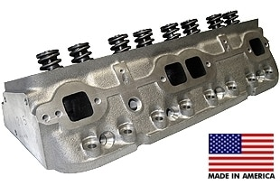 """World Products 011250-50-2 - Cylinder Heads Cast Iron Chevy Small Block SPORTSMAN II 200cc 50cc 23Degree 2.020"""" x 1.600"""" Straight Plug, Assembly w/1.437"""" springs for solid flat tappet or Had. Roller lifters"""
