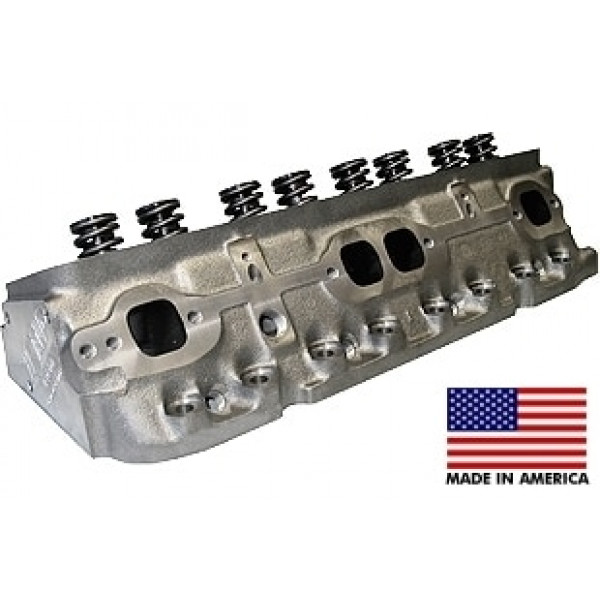 """World Products 043600-1 - Cylinder Heads Cast Iron Chevy Small Block S/R 170cc 76cc 23Degree 1.940"""" x 1.500"""" Straight Plug.  Assembly w/ 1.250"""" spring for hydraulic flat tappet lifters"""