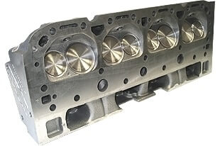 """World Products 042660 - Cylinder Heads Cast Iron Chevy Small Block S/R Torquer 170cc 67cc 23Degree 2.020"""" x 1.600"""" Straight Plug, Bare Casting"""