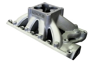 """Bill Mitchell Products BMP 063416 - Intake Manifold Ford Small Block 9.500"""" 4500 Carb Flange"""